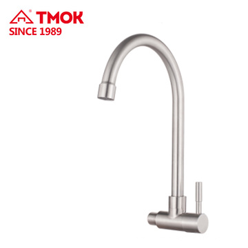 SUS 304 bathroom sanitary ware taps wall deck mounted kitchen basin faucet