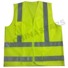 Chaleco de seguridad de color amarillo en 471 aprobado para Brasil
