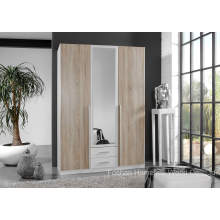 Free Standing Bedroom Wardrobe with Mirror (HF-EY08282)