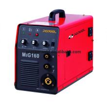 MIG 160 (IGBT) inversor de dióxido de carbono gás Shield soldagem máquina