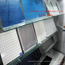 Tôle perforée galvanisée / maille galvanisée de trou de poinçon / grillage perforé galvanisé