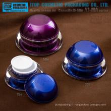 YJ-MA série 15g 30g 50g haute clair élégants dôme conteneurs acryliques pour cosmétique