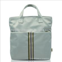 La bolsa de asas de encargo del almuerzo de las mujeres de la tela de Oxford del logotipo