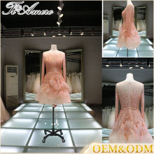 China alibaba applique bridal wedding dress party high quality women dresses flower mini evening dresses