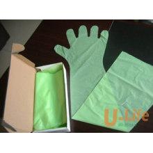 Одноразовые ветеринарные перчатки с длинными рукавами (90 см)