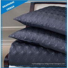 Dark Indigo Solid Polyester Quilted Bedspread Set