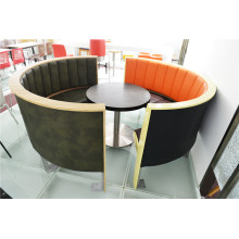 High End Semicircle Restaurant Booth and Round Dining Table (FOH-CXSC72)