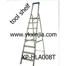 Aluminium Step Ladder with Tool Shelf (XP-HLA008T)