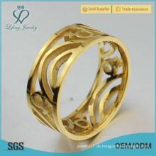 Gold lesbische Engagement Ringe, Edelstahl Gold passenden Lesben Ringe