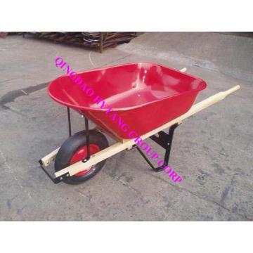 carrinho de mão de madeira do punho 80L bandeja de aço WH6600
