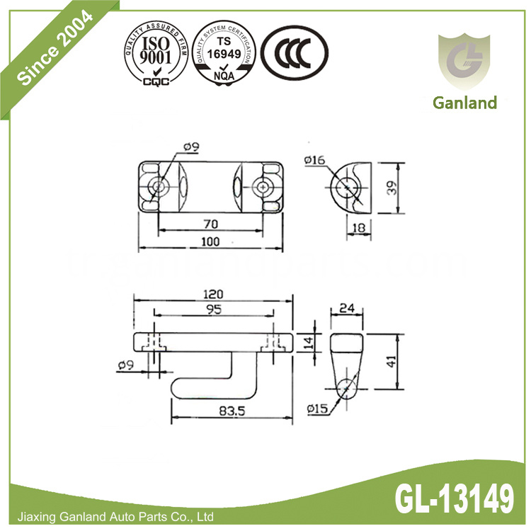 Tir hinge specification gl-13149