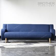 Sofá americano do assento da tela três da mobília da casa de estofamento do estilo