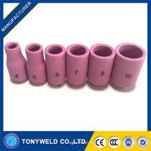 Tig soldagem tocha consumíveis injetores de cerâmica 13N série 4 5 6 7 8 10