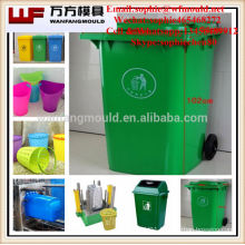 2017 hot new products outdoor waste bins mould taizhou huangyan Plastic Trash can mold factory