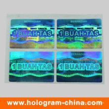 Autocollant anti-contrefaçon d'étiquette d'hologramme d'animal familier