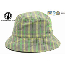 High Quality Checked Kids Baby Children Sun Cap & Bucket Hat