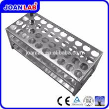 Rack de tubos de ensayo de aluminio JOANLAB para uso en laboratorio