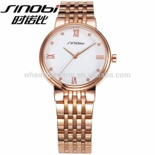 Shinobi Brand Fashion Luxury Watch Women Gold Plated Stainless Steel Case Back ladies watches For Couples