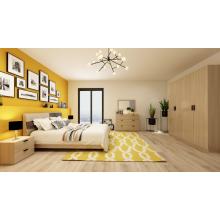Moderner hölzerner Melamin-Schlafzimmer-Möbel-Satz