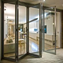 Feelingtop Porte en aluminium bifold de luxe pour la construction