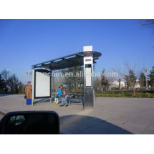 THC-93 outdoor metal shelter for bus