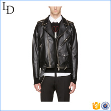 2017 Wholesale design slim fit men leather jacket with low price pu jacket