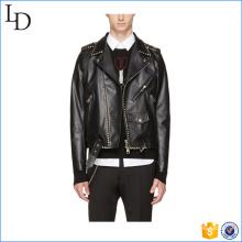 2017 Atacado design slim fit jaqueta de couro dos homens com baixo preço jaqueta pu