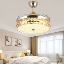 Decorative Invisible Ceiling Fan Light with Hidden Blades Remote Control for Living Room