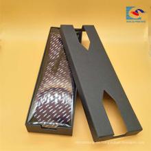 Caja de regalo de embalaje de corbata rectangular de diseño creativo personalizado personalizado