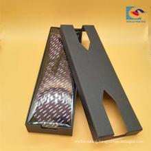 Popular custom creative design rectangular tie packaging gift box