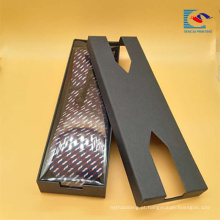 Popular personalizado design criativo retangular gravata embalagem caixa de presente