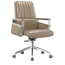 Chaise de bureau moderne en cuir à dossier moyen en cuir (HF-B1503)