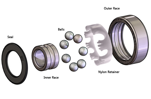 sealed Nylon Cage Bearing