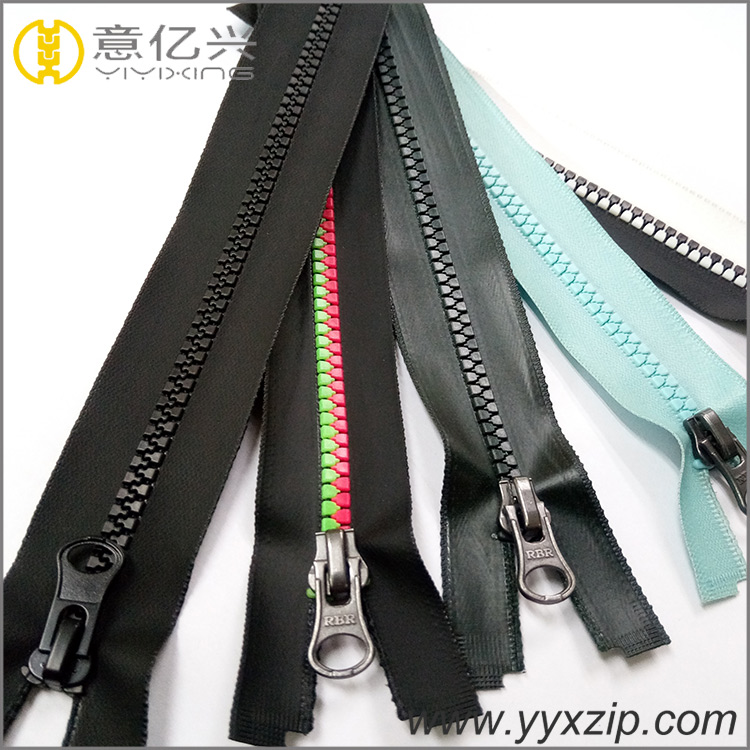 Different Size Resin Zipper