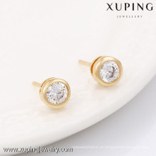 90150-Xuping Jóias Trendy Banhado A Ouro Clássico Tipo Stud Brinco