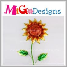 Nuevos ornamentos de la pared de la flor del metal del jardín