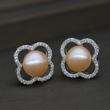 High Quality Freshwater Cultured Pearl Earring