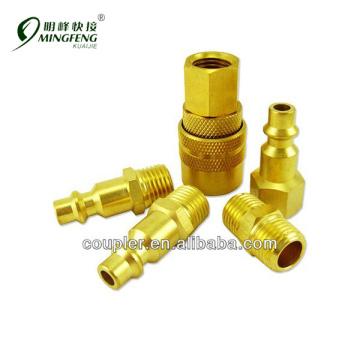 PC Air Tool Hose Compressor Brass Quick Coupler Set