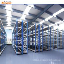 rack de prateleira de armazenamento de molde de armazém com caixas