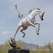 Décoration extérieure de haute qualité en métal artisanat bronze figure animale