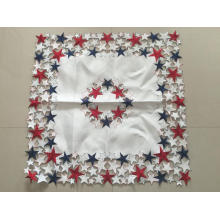 Toalha de mesa estilo americano bordado Handmade Cutwork