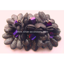 Handmade Fabric Rhinestone Shoe Flower Shoe Clips for Flats