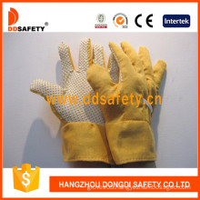 Gardening Gloves. Yellow Dots on Palm (DGB111)