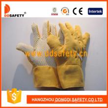 Luvas De Jardinagem. Pontos amarelos na palma da mão (DGB111)