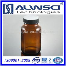 75ml pharmaceutical storage amber wide mouth boston round glass bottle