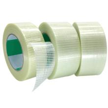 Fita de filamento de malha forte autoadesiva com isolamento de fibra de vidro bidirecional
