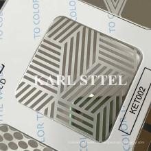 China 304 Ket002 de aço inoxidável gravados folha para materiais de decoração
