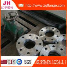 BS4504 Flange de rosca de face em relevo em aço carbono forjado