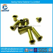 DIN7339 Stock Brass Flat Head Tubular Rivets