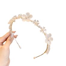 Bandeau fascia per capelli Acrylic Pearl Slim Headband Luxury Hair Accessories Korean Baroque Handmade Wedding Bride Flower Hairband Sweet For Women